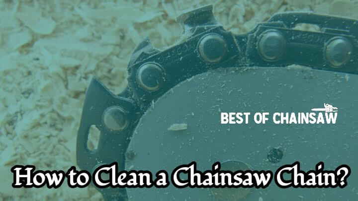 how to clear a chainsaw chain